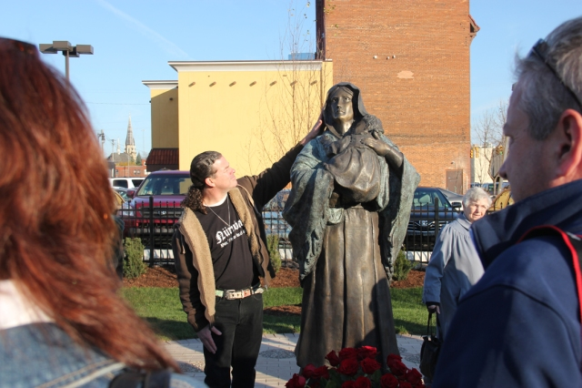 Mic's Madonna Bronze Sculpture Dedication